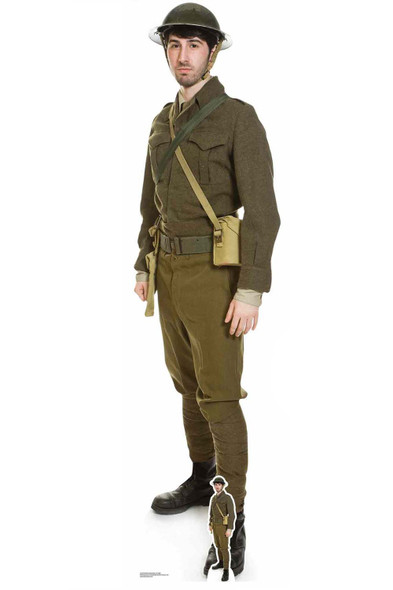 British World War 1 Soldier Cardboard Cutout / Standup / Standee