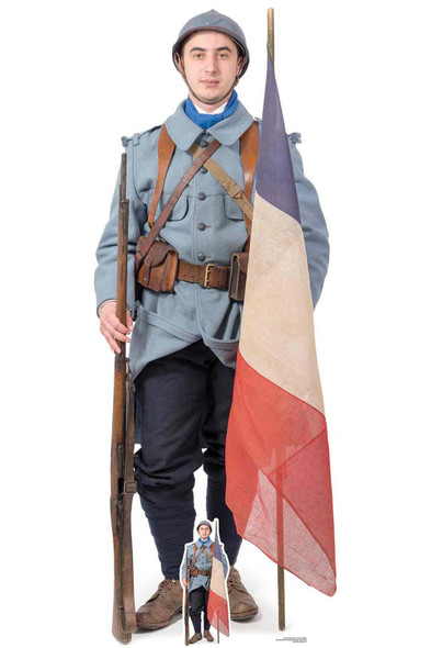 French World War 1 Soldier Cardboard Cutout / Standup / Standee