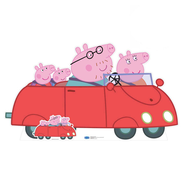Peppa Pig Family Car Cardboard Cutout / Standee / Stand up