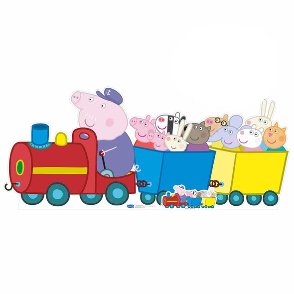 Grandpa Pigs Train Peppa Pig Cardboard Cutout