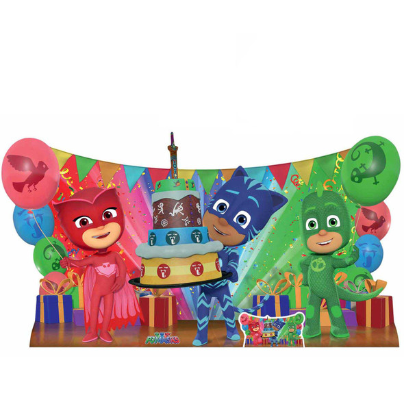 PJ Masks Group Pose Birthday Party Cardboard Cutout