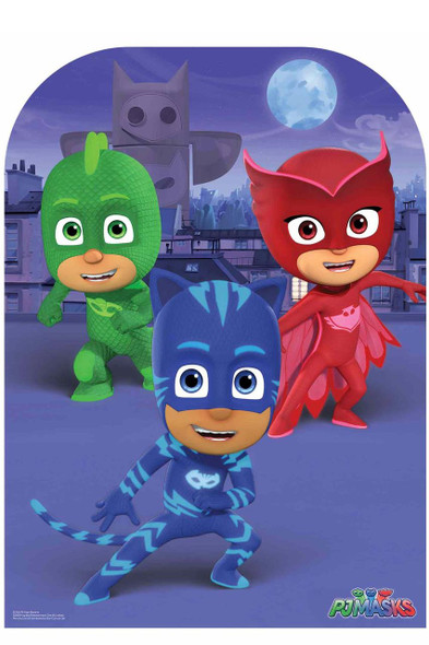 PJ Masks Child Size Stand In Cardboard Cutout with faces example