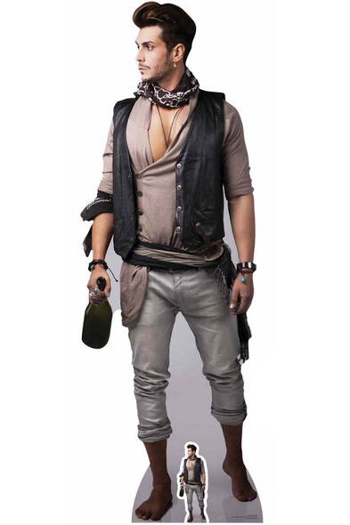Pirate with Bottle of Rum Cardboard Cutout / Standup / Standee