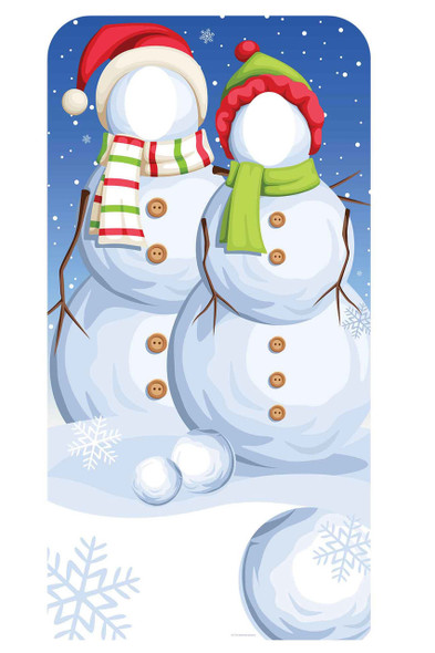 Christmas Snowmen Stand-In Cardboard Cutout / Standup