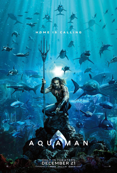 Aquaman Movie Poster - Double Sided Advance Style