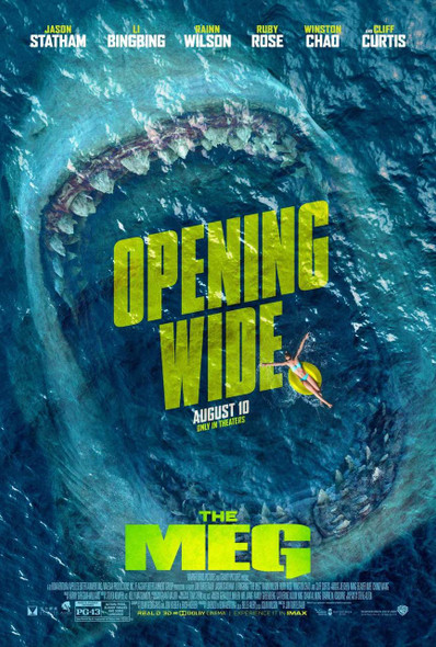 The Meg Original Movie Poster - Double Sided Final Style
