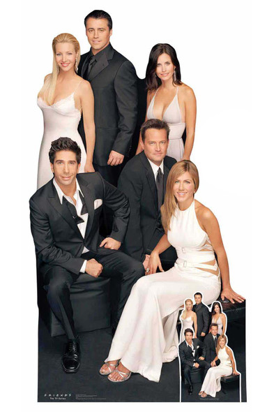 Friends Group Cardboard Cutout / Standup featuring Rachel, Ross, Joey & gang Cardboard Cutout / Standup