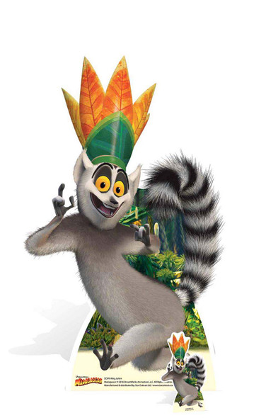 King Julien from Madagascar Cardboard Cutout
