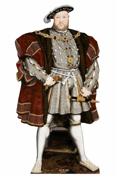 King Henry VIII The Tudor King Lifesize Cardboard Cutout / Standup