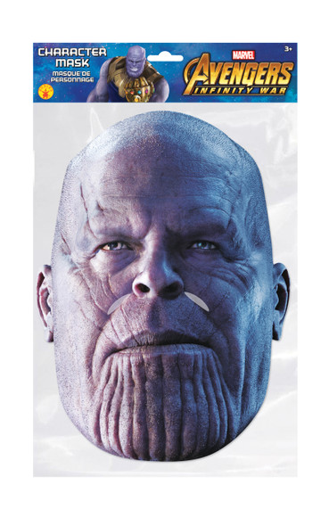 Thanos Infinity War Official Marvel Single 2D Card Party Face Mask