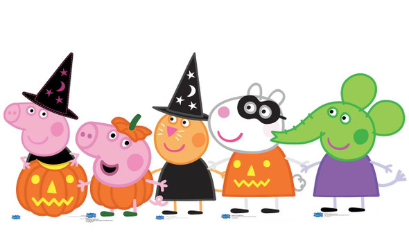 Peppa Pig and Friends Halloween theme Cardboard Cutout Set