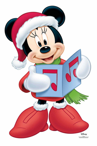 Minnie Mouse Christmas Carol Official Disney Cardboard Cutout