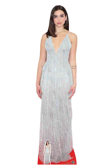 Dua Lipa White Dress Cardboard Cutout / Standup / Standee