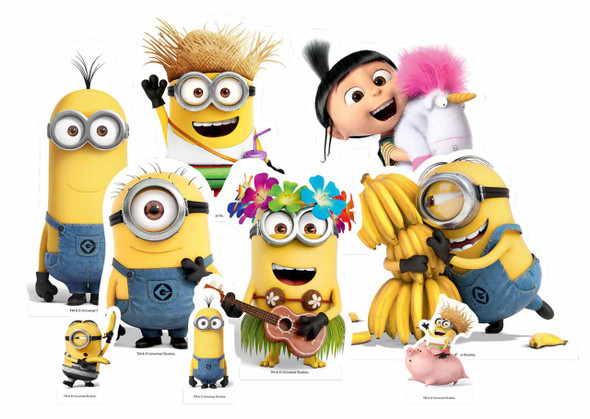 Mischievous Minions from Despicable Me Table Top Cardboard Cutouts Party Pack of 9