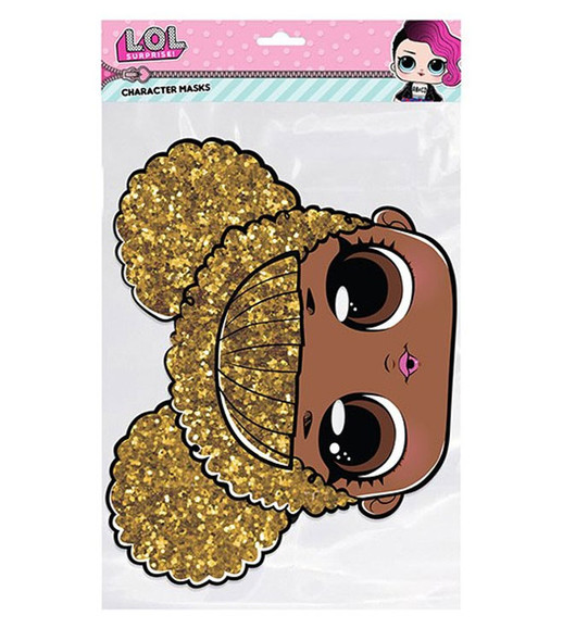 Queen Bee LOL Surprise Single 2D Card Party Face Mask