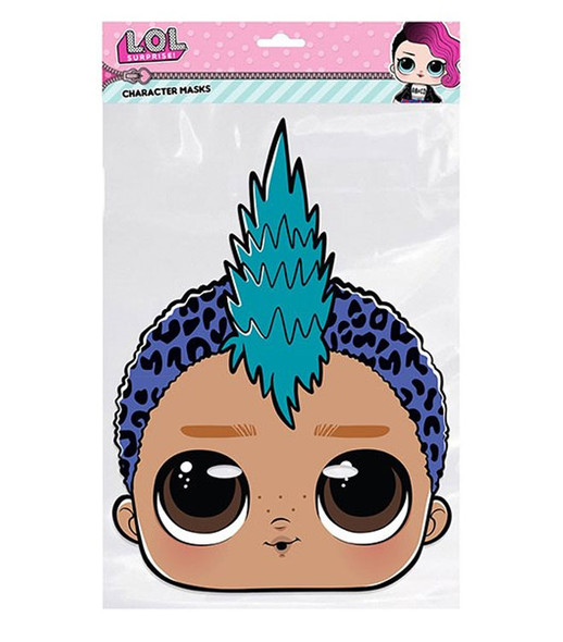 Punk Boi LOL Surprise Single 2D Card Party Face Mask