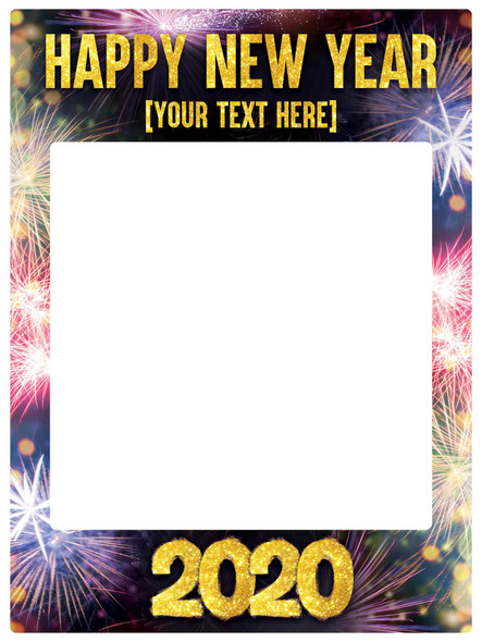 Personalised Happy New Year Foamex Selfie Photo Frame