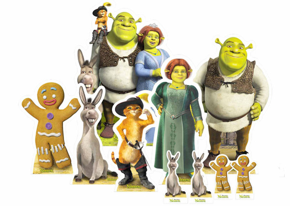 Shrek Table Top Cardboard Cutouts Party Pack of 10