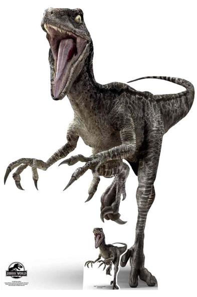 Jurassic World Blue Velociraptor Cardboard Cutout
