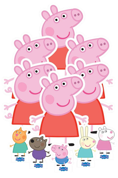 Peppa Pig Table Top Cardboard Cutouts Party Pack of 11