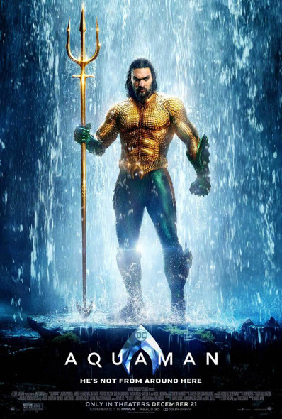 Aquaman Original Movie Poster - Double Sided Regular Style A