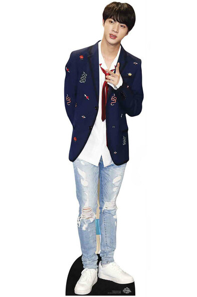 Jin from BTS Bangtan Boys Mini Cardboard Cutout / Standup