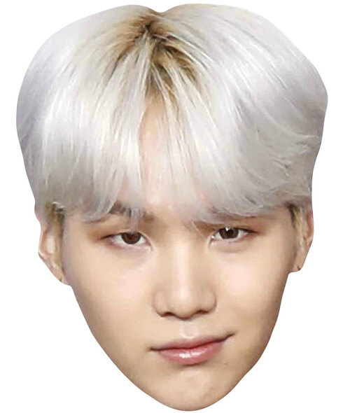 Suga from BTS Bangtan Boys 2D Card Party Face Mask