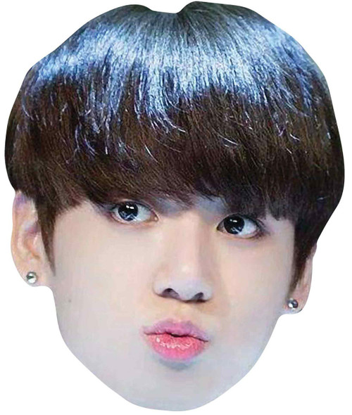 Jungkook from BTS Bangtan Boys 2D Card Party Face Mask