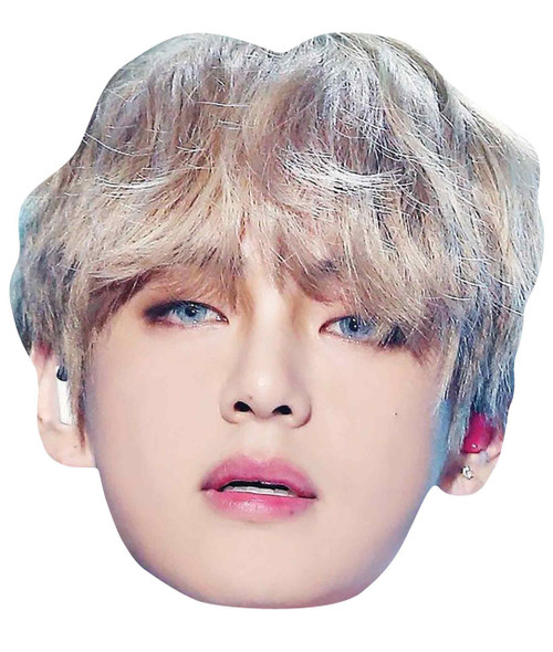 V from BTS Bangtan Boys 2D Card Party Face Mask