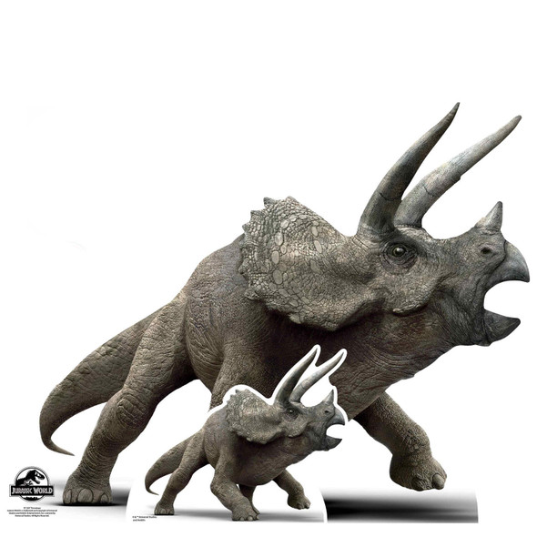 Triceratops Official Jurassic World Lifesize Cardboard Cutout / Standee