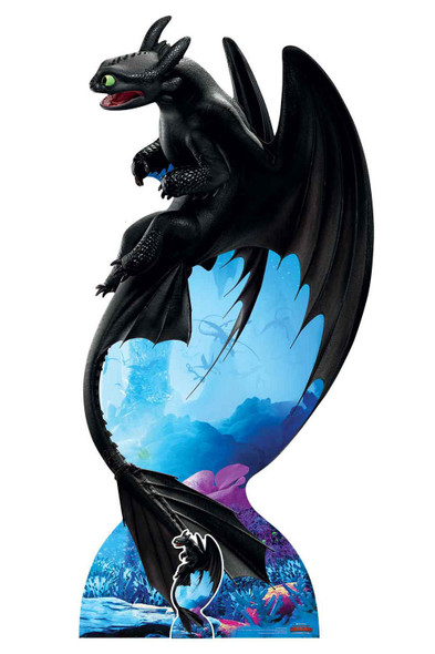 Toothless Night Fury from How to Train Your Dragon 3 Official Cardboard Cutout/ Standee