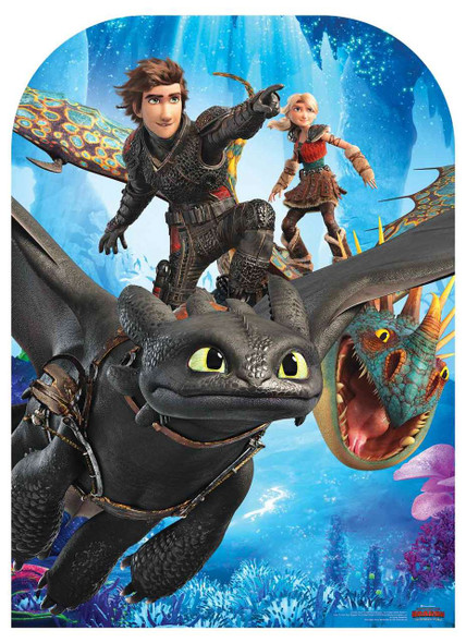 How to Train Your Dragon 3 Child Size Stand In  showing faces