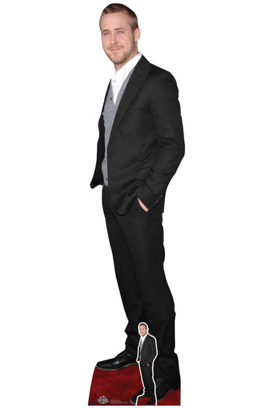 Ryan Gosling Black Suit Lifesize Cardboard Cutout /
