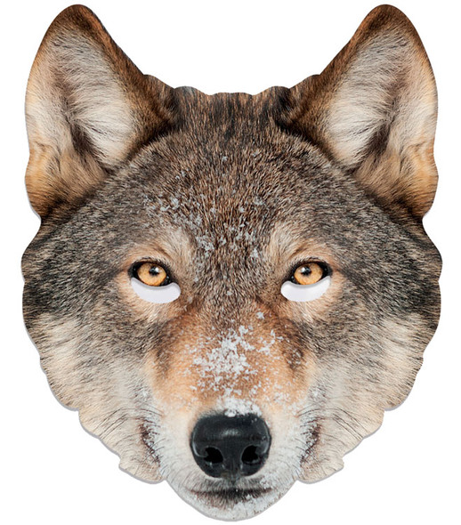 Wolf Animal Single 2D Card Party Face Mask