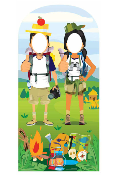 Camping / Hiking Theme Stand In Cardboard Cutout/ Standup