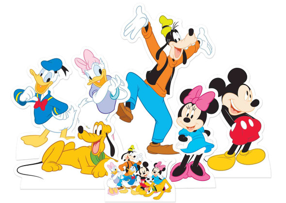 Mickey Mouse and Friends Official Table Top Cardboard Cutouts Party Pack of 7