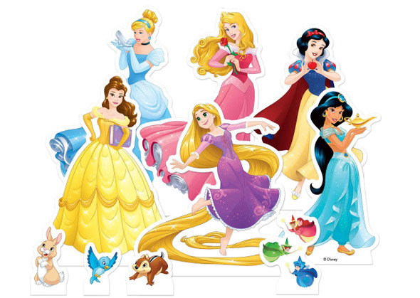 Disney Princess Official Table Top Cardboard Cutouts Party Pack of 10