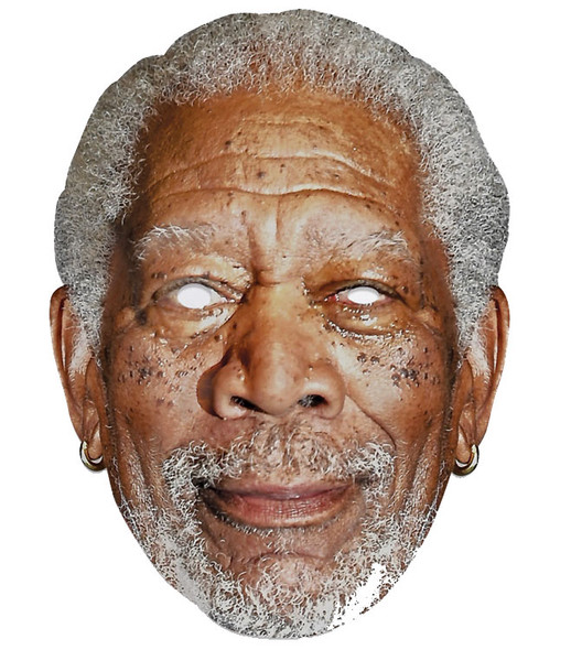 Morgan Freeman Single 2D Card Party Face Mask