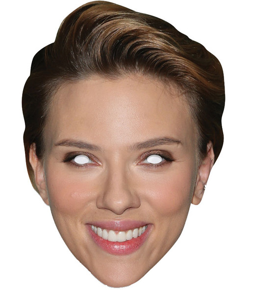 Scarlett Johansson Single 2D Card Party Face Mask