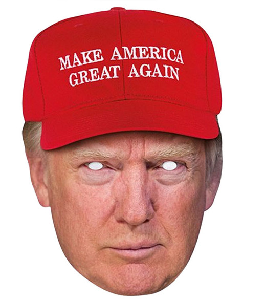 Donald Trump Make America Great Again Hat Single 2D Card Party Face Mask