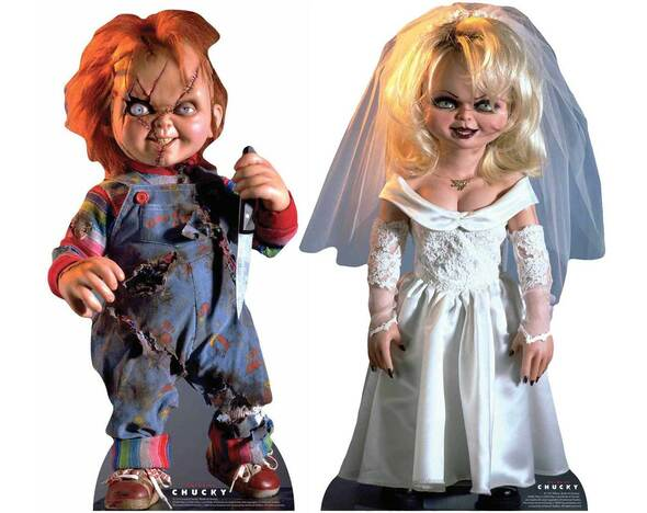 Chucky and Tiffany Official Cardboard Cutout Set of 2