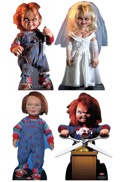 Chucky Collection Official Cardboard Cutout Set of 4
