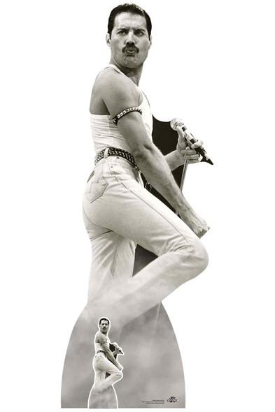 Freddie Mercury performing at Live Aid Lifesize Cardboard Cutout