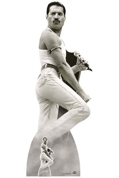 Freddie Mercury performing at Live Aid Lifesize Cardboard Cutout