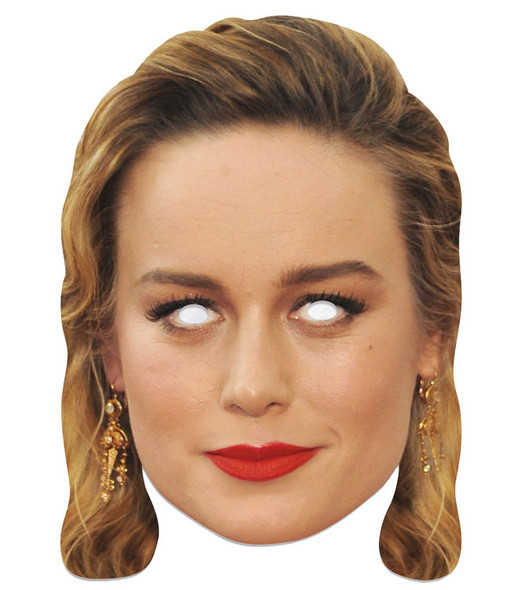 Brie Larson Single 2D Card Party Face Mask