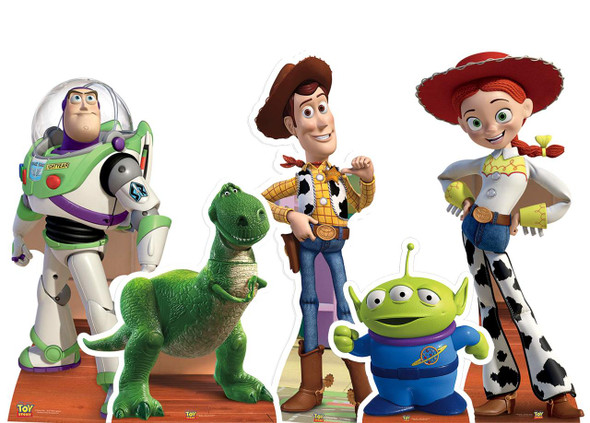 Complete Set of Toy Story Cardboard Cutouts - Collection of 5