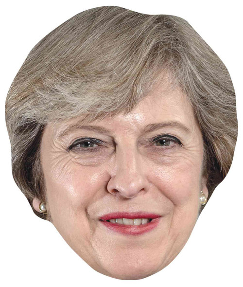 Theresa May Single 2D Card Party Face Mask