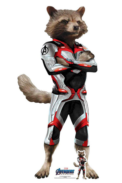 Rocket Raccoon Marvel Avengers: Endgame Official Mini Cardboard Cutout