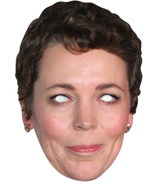 Olivia Colman Single 2D Card Party Face Mask
