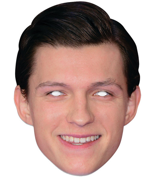 Tom Holland Single 2D Card Party Face Mask